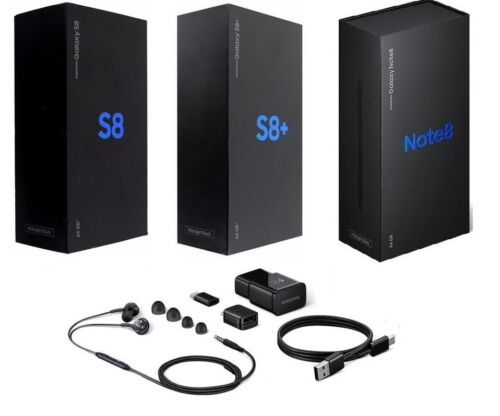 Samsung Galaxy S8 S8 Plus Note 8 Original Box with All OEM Accessories Included