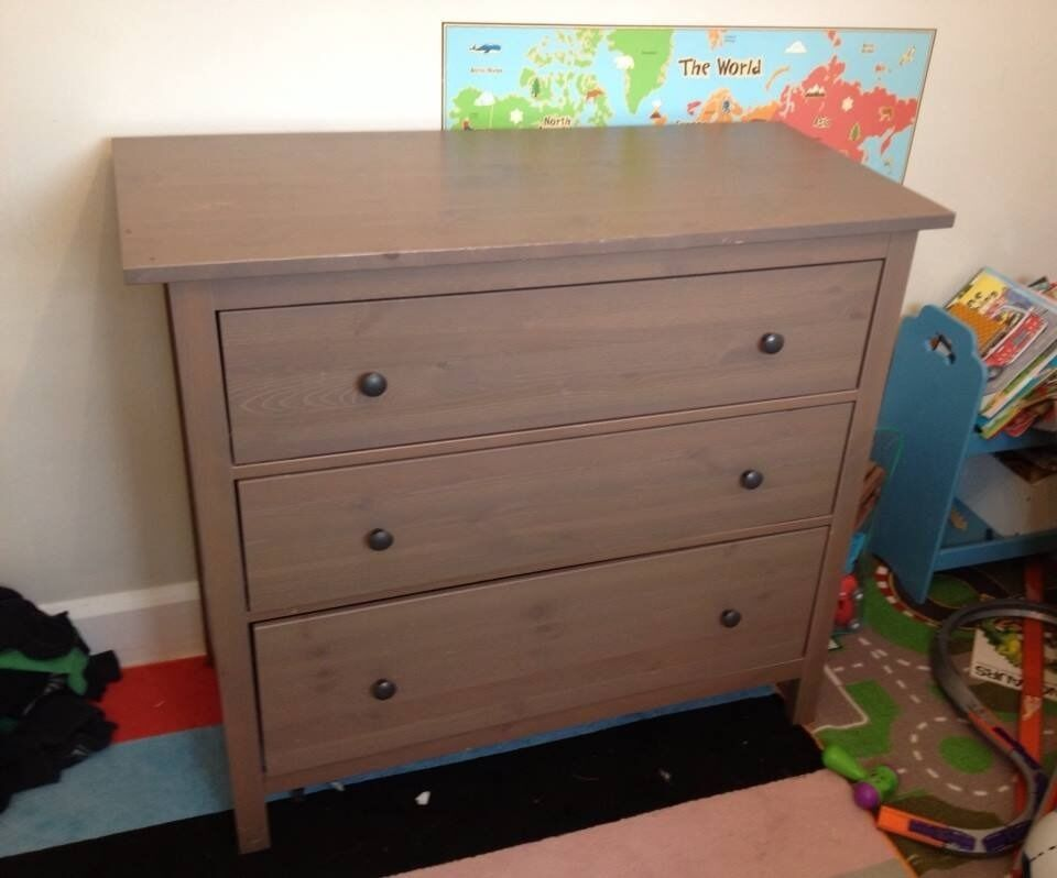 Ikea Hemnes Chest Of 3 Drawers Grey Brown