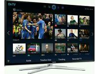 "SAMSUNG 55"" LED Smart 3D tv wifi built USB MEDIA PLAYER HD FREEVIEW full hd 1080p ."