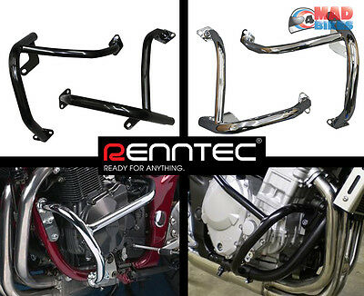 Renntec Chrome Engine Crash protection Bars  Suzuki GSF600 Bandit 1995 to 2004