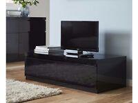 3 Piece black high gloss furniture set xcellent condition