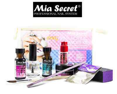 Mia Secret   Acrylic Nail Starter Kit  Pink 9 Pcs Set Global Shipping