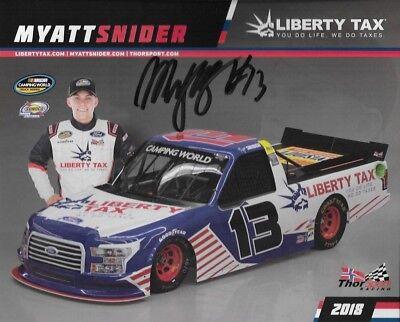 Signed 2018 Myatt Snider  Liberty Tax Thorsport  13 Nascar Truck Series Postcard