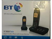 BT3920 TWIN DIGITAL CORDLESS PHONE WITH ANSWER MACHINE BRAND NEW £35ovno