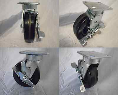 6 X 2 Swivel Caster Kingpinless Phenolic Wheel W Brake 1200 Lb Tool Box 4