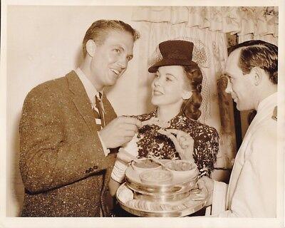 IDA LUPINO ROBERT STACK Original CANDID Hollywood Party Vintage 1940s Photo