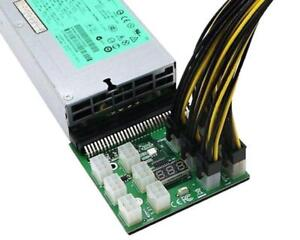 Breakout Board Adapter for HP PSU (1200W/750W) + 12pcs 16AWG PCIe 6 pin to 6+2 pin Cables (70cm) SALE