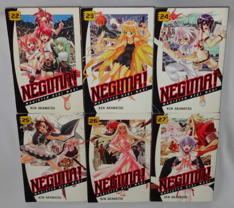 Manga Negima! Magister Negi Magi English Volume 22-27 Ken Akamatsu Lot of 6