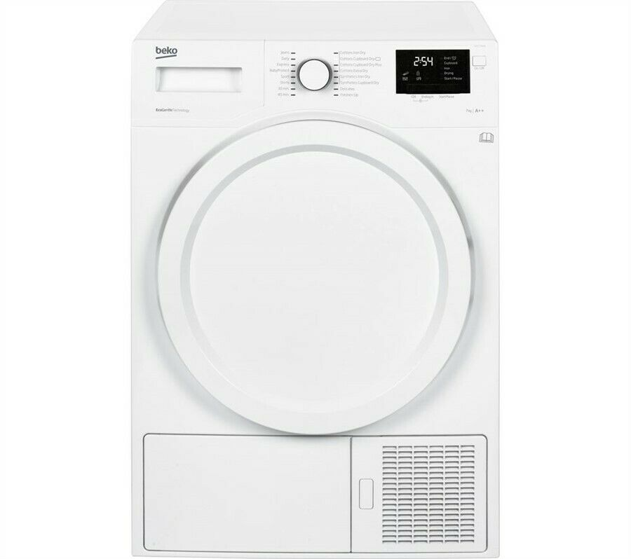Beko DHY7340W 7kg Load Heat Pump Condenser Dryer - (D36-IS737998198)