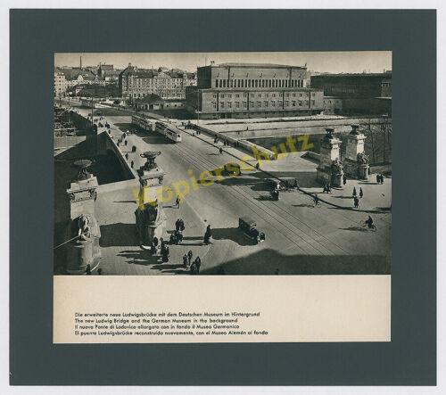 Dr. Paul Wolff München Ludwigsbrücke Isar Auto Straßenbahn Deutsches Museum 1939