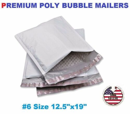 """25 #6 Poly Bubble Padded Envelopes Mailers 12.5"""" X 19"""" FREE FAST SHIP"""