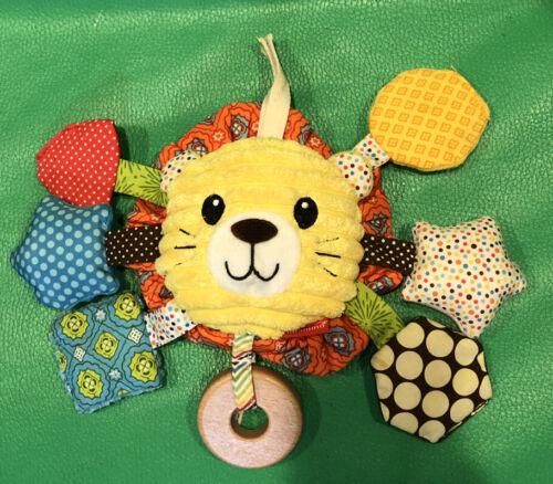 Infantino 2014 Lion Plush Crinkle Rattle Squeak Activity Sensory Baby Toy - $8.99