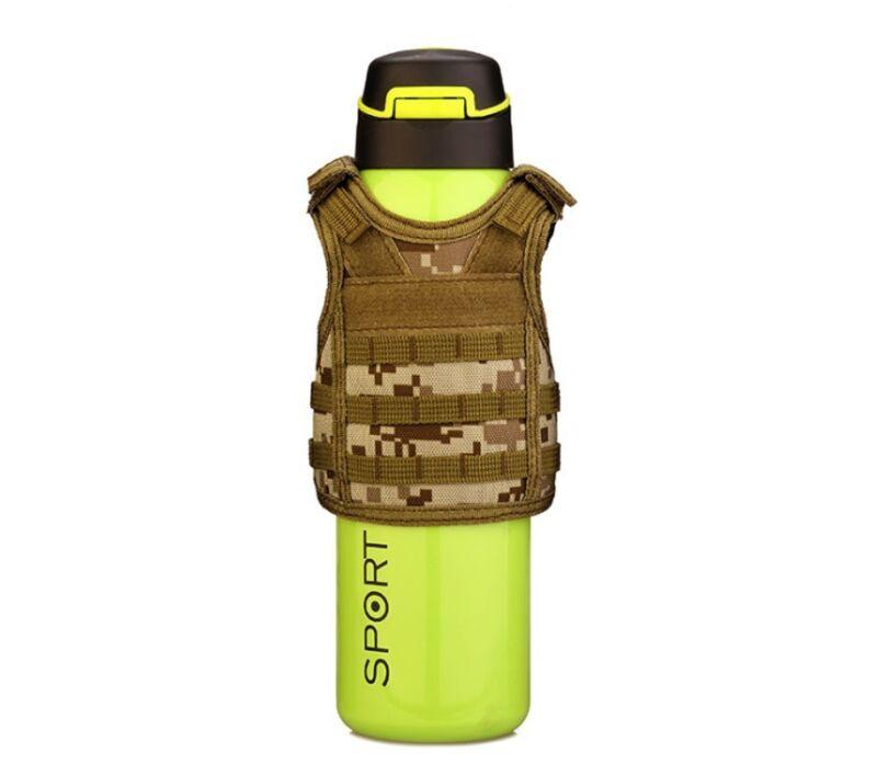 Military Tactical Mini Vest Soda Beer Bottle Coozie Coolie Koozie-Coyote Digital