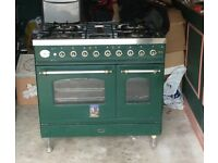 gas top, electric oven