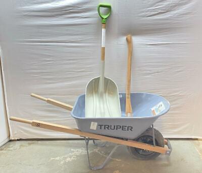🚀💥 TRUPER 5.5 CU.FT. STEEL WHEELBARROW W/ SHOVEL & TRUPER YARD TOOL HANDLE