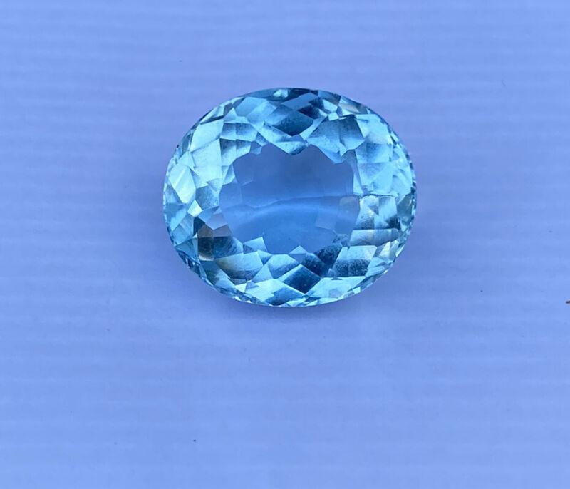 EGL Certified Natural 8.53 Aquamarine Gemstone