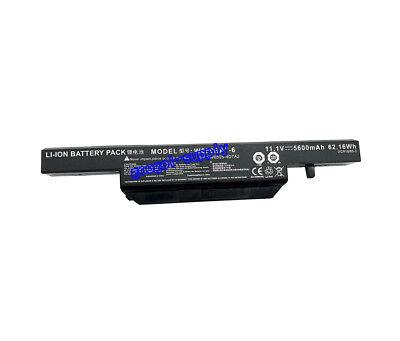 62.16Wh W650BAT-6 Battery for Clevo W650RZ W650DC W650SZ W670SR 6-87-W650S-4D7A2
