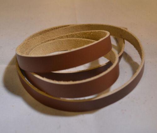 """Lace Leather Strings - 1/2"""" x 24"""" - Top Grain Leather - 3 oz - Qt 6 (E116)"""