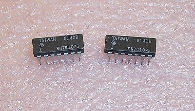 Qty 25 Sn74107j Ti 14 Pin Ceramic Dip Jk-type Flip Flop Sn74107 Nos 1 Tube