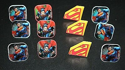 New Superman Lot 12 pcs Rings Goody Bag Party Favors Birthday Super Hero  -E - Superhero Goodie Bags