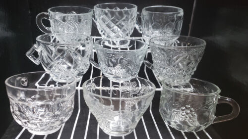 Replacement Vintage Depression Era Glass and Crystal Punch Cups Your Choice