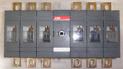 New Abb 6 Pole Disconnect Switch Ot200e33 200 Amp Acdc 690 Vac 1000 Vdc 12kv