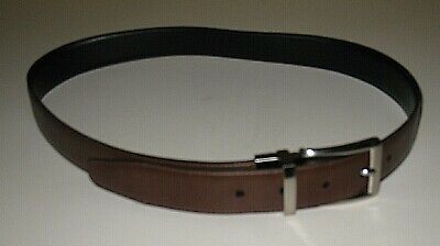 TASSO ELBA BROWN ITALIAN HANDCRAFTED LEATHER GARRISON BELT MEN'S SIZE 32 Brown Italian Handcrafted Leather
