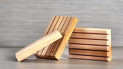 4 natural hemlock wood soap dish - 2.5