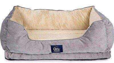 Serta Orthopedic Bed Dog Pet Bolster Foam Memory Large Joint Relief Sleeper New