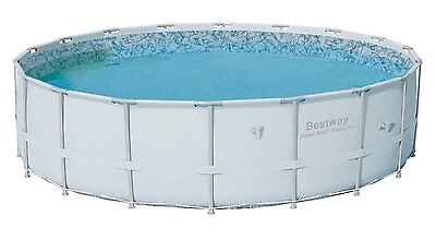 """Bestway 16' x 48"""" Power Steel Pro Frame Above Ground Swimming Pool 