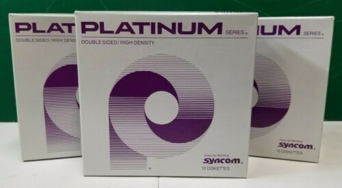 "Platinum Series double sided high density 5 1/4"" 10 diskettes Syncom NEW 5.25"""