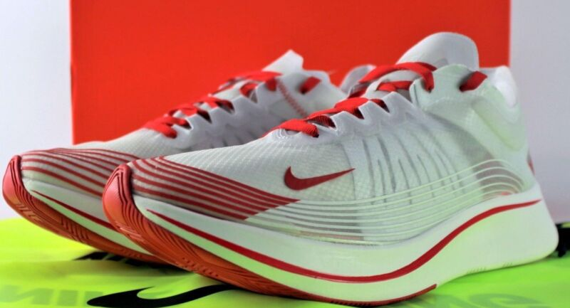 dcc8198d46c9 NIKE ZOOM FLY SP RUNNING SHOES TOKYO WHITE  CLEAR UNIVERSITY RED AJ9282-100