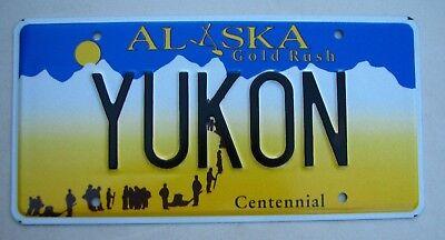 """ALASKA VANITY LICENSE PLATE """" YUKON """" KLONDIKE CANADA WHITEHORSE GMC"""