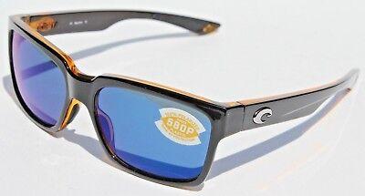 COSTA DEL MAR Playa POLARIZED Sunglasses Black Amber/Blue Mirror 580P (Costa Playa Sunglasses)