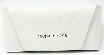 NEW MICHAEL KORS EYEGLASSES SUNGLASSES OPTICAL SOFT HARD WHITE LEATHER CASE (Michael Kors Sunglass Case)