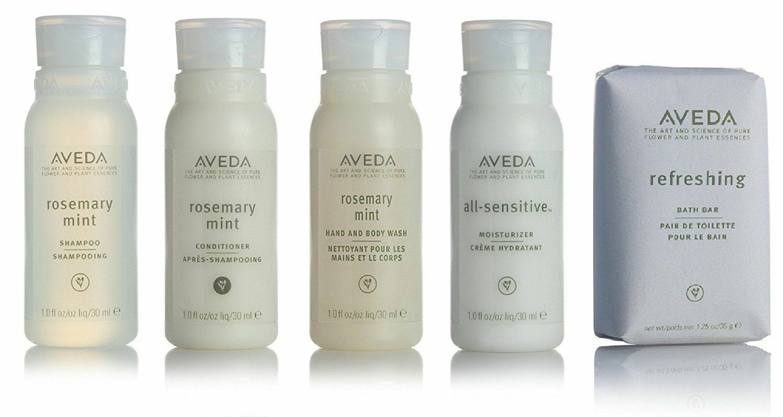 AVEDA Travel Set 5 RosemaryMint Shampoo Conditioner Lotion H
