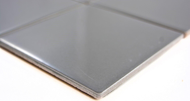 Mosaik Fliese Keramik metall matt  Fliesenspiegel Küche  23-2201/_b
