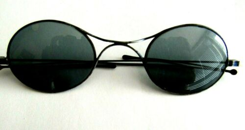ANTIQUE WIRE FRAMED DARK GLASSES WITH BEHIND EAR WIRE FLAPS