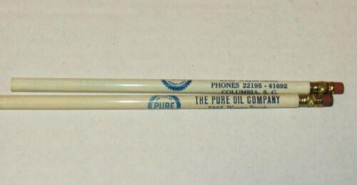 Vintage 2 Pencils THE PURE OIL COMPANY Columbia SC
