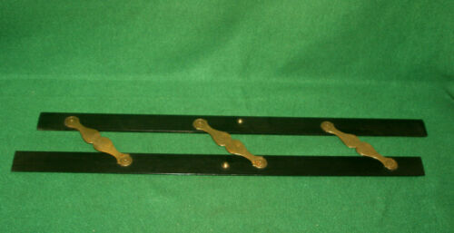"""Showy Antique Vintage Maritime 24"""" Parallel Rule of EBONY and BRASS Inv#HK44"""