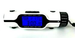CREW OUTFITTERS Digital World Time Travel Alarm Clock LED Light