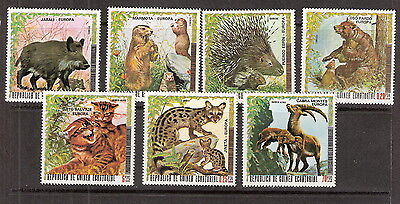 Equatorial Guinea 1976 Protection of Nature Animals and Young MNH