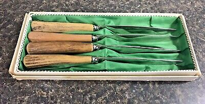 Vintage German Eye Brand Carl Schlieper Steak Knife Set (4) Solingen Germany
