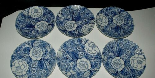 Tiffany & CO Liberty Blue Saucer by JOHNSON BROTHERS, set of 6