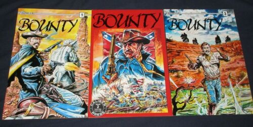 BOUNTY #1-3 NM- Full Set! Bounty at Navarro Caliber Press 1991 Tales of the West