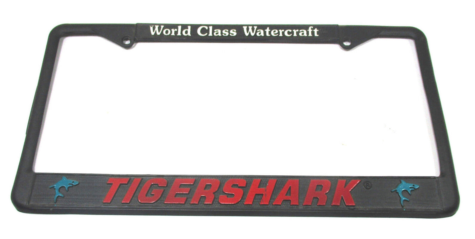 New Metal TigerShark License Plate Frame