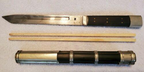 Antique Chinese Traveling Trousse Knife & Chopsticks Eating Set, Maker