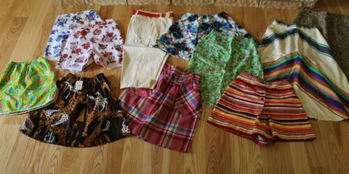 Lot of VTG 1970s Tween Young Teen Girls Skirts & Shorts