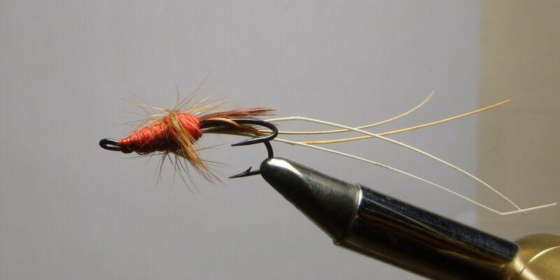 """HAL JANSSEN COLLECTION "" Arthur Olglesby, England, Vintage Salmon Fly ""Prawn"""