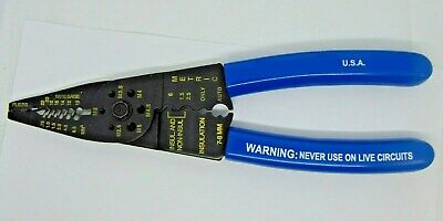 Metric Screw Cutter Wire Stripper Crimper Pliers Made In Usa